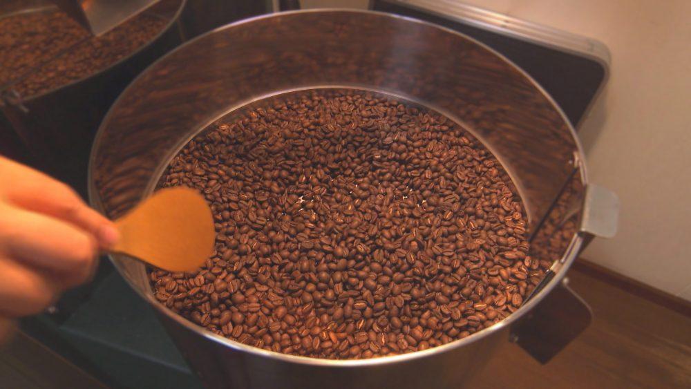 コーヒー豆のいい香りが