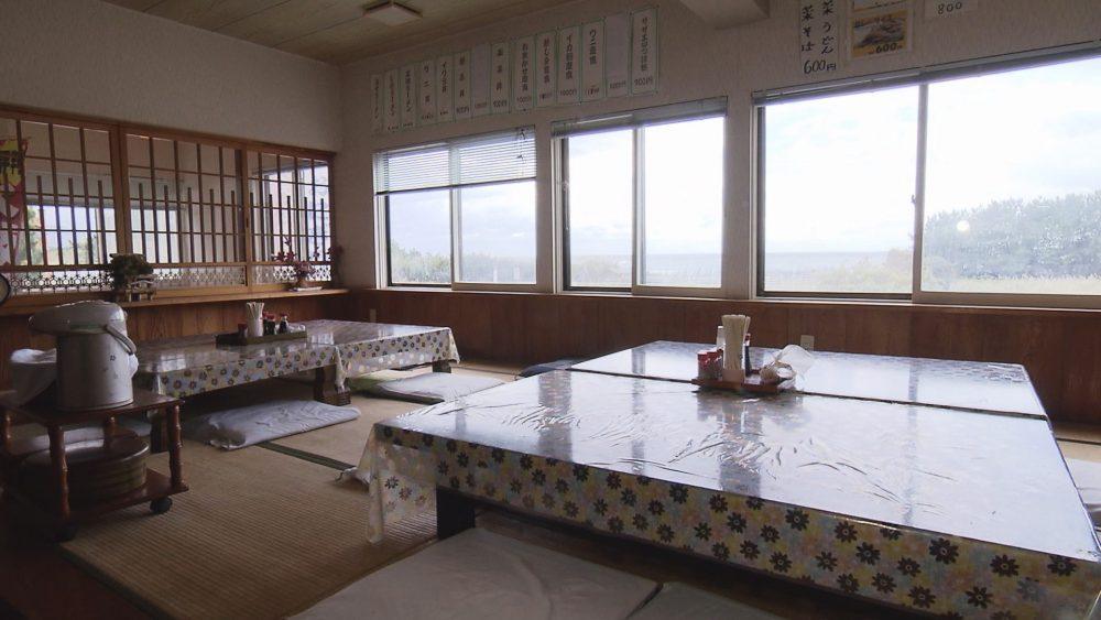 日本海の絶景とともに