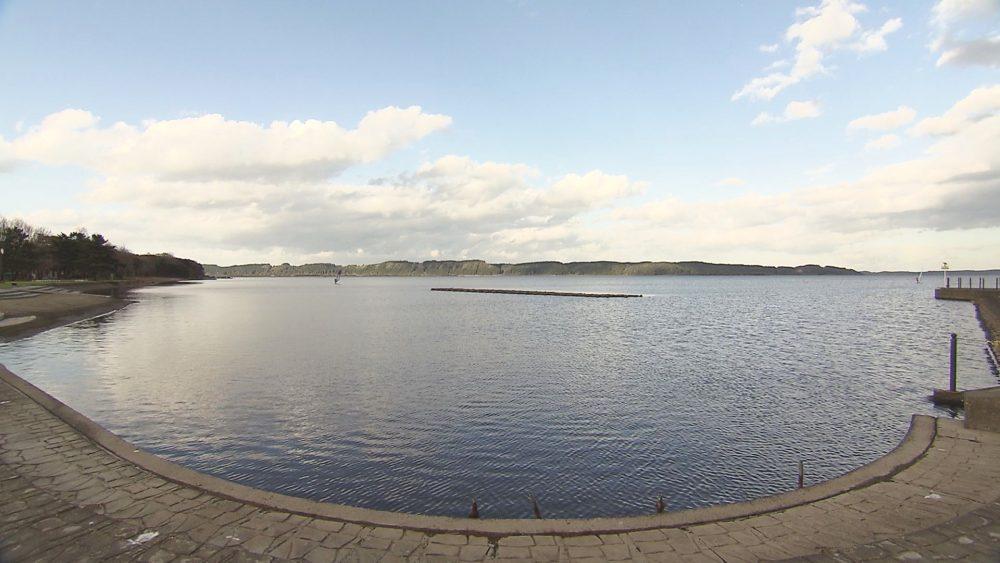 小川原湖を眺めながら